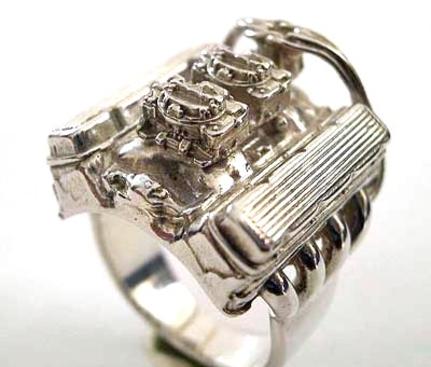 ... Мужской серебряный перстень в виде миниатюрного двигателя на заказ в  Санкт-Петербурге ... b2e75029526